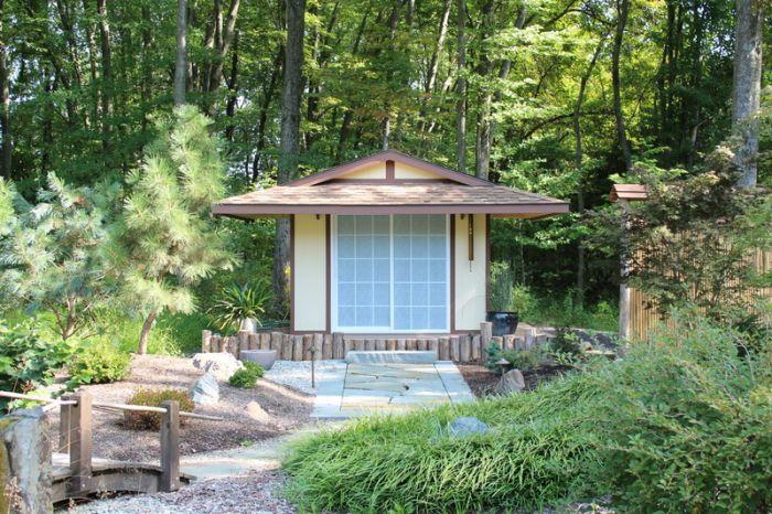 asian style shed pagoda sliding doors